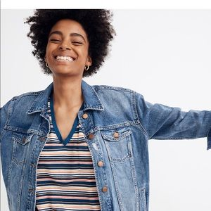 Madewell Oversized Denim Jacket in Wortham Wash